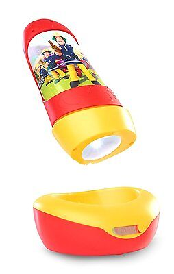 NEW Fireman Sam GO GLOW 2in1 Rechargeable NIGHT LIGHT and TORCH Mains/Battery