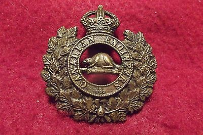 Pre WW I Brass Cap Badge To The Canadian Engineers 1903