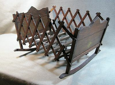 Primitive Antique Doll Toy Expanding Folding Doll Cradle Late 1800`s