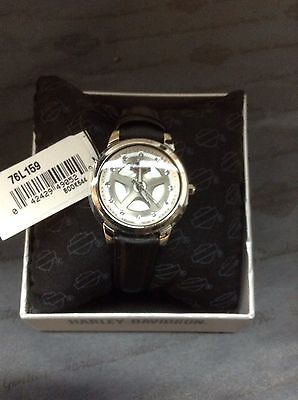 D Womens Harley Davidson Bulova Watch With Crystals 76L159 New With Tag