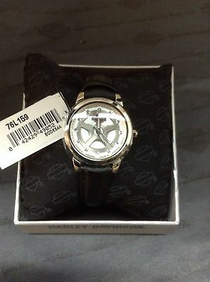 Womens Harley Davidson Bulova Watch With Crystals 76L159 D New With Tag