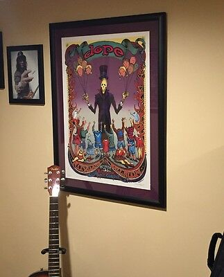 Alice Cooper with Dope framed poster signed by artist Emek
