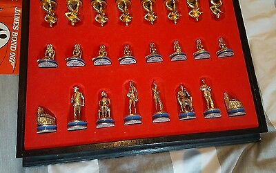 Very rare James Bond 007 Dr No gold and silver plated chess set