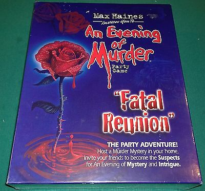 Max Haines AN EVENING OF MURDER  party game- fatal reunion NIB