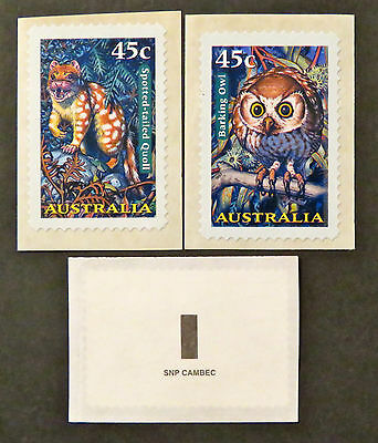 Australian Decimal Stamps: 1997 Creatures of the Night - Set of 2 - P&S MNH