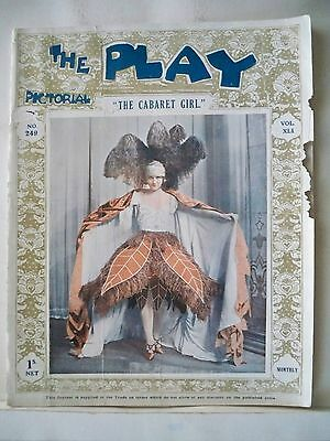 THE CABARET GIRL The Play Pictorial Magazine JEROME KERN London 1922
