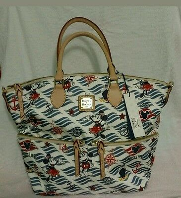 Disney Cruise Line, Dooney and Bourke Large Wave Satchel Tote NWT
