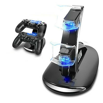 Fast Charger Dock Station Dual USB Charging Stand for PS4 Controller Novelty