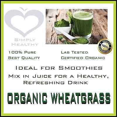 ORGANIC WHEATGRASS POWDER CERTIFIED 400g BEST AVAILABLE QUALITY PROMOTION