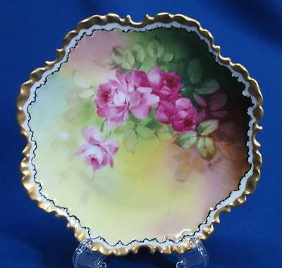 Julius Brauer Studios, Pickard Contemporary Hand-Painted Roses Plate