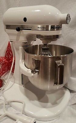 KitchenAid 5 Qt. Heavy Duty Mixer RRK5A KitchenAid Refurbished White Excellent!