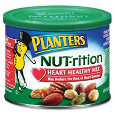 Kraft Foods KRF05957 Planters Heart Healthy Mix, Assorted Nuts, 9.75oz., Green