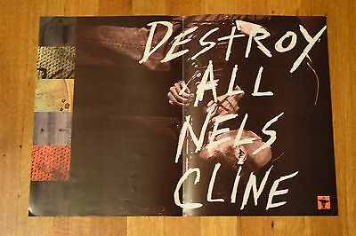 "Nels Cline ""Destroy All"" WILCO Record Store Album Promo Poster RARE 17 x 11 3/4"