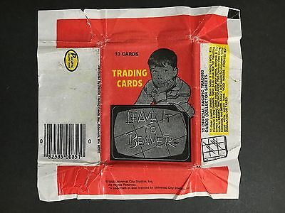 Leave It To Beaver Trading Card Wrapper From 1984
