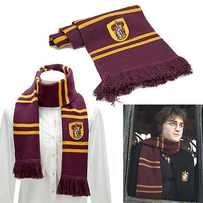 Harry Potter Gryffindor Thicken Wool Knit Scarf Wrap Warm Soft Costume Cosplay