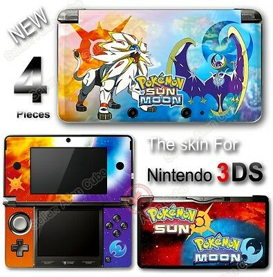 Pokemon Sun Moon Go New Skin Sticker Vinyl Cover Deal for Nintendo Original 3DS