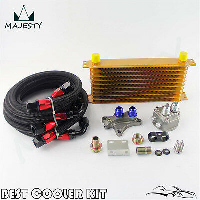 10 Row Trust Oil Cooler Kit For Nissan Silvia S13 S14 S15 SR20DET Gold