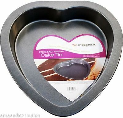 Love Heart Shape Carbon Steel 23Cm Cake Tin New Non-Stick Tray Baking Bake Pan