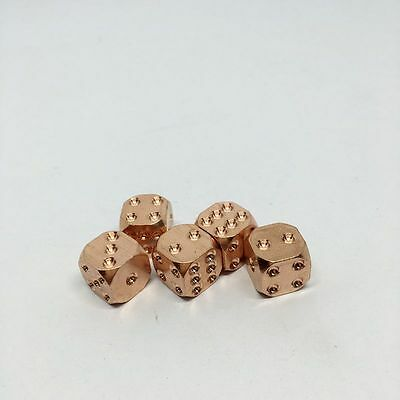 1XPiece 12mm Antique Vintage 6-seitig Solid Brass Mahjong Dice Creative New Gift