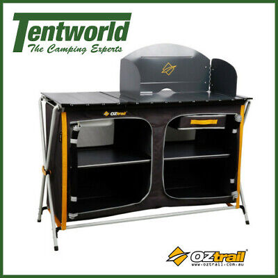 Oztrail Portable Folding Storage Camp Kitchen Deluxe with Sink