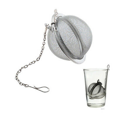 Reusable Tea Leaf Strainer - Ball Mesh - Loose Infuser - Stainless Steel Hot