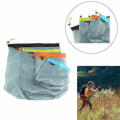 Ultralight Drawstring Nylon Mesh Stuff Sack Storage Bag Outdoors Sleeping Bag