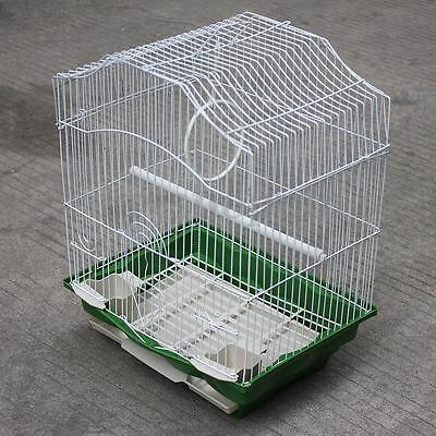 White Durable Metal Birdcage Parrot Cockatiel Finch Budgie Canary Lovebird Cage