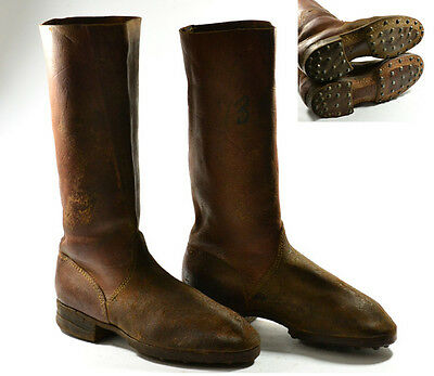 Wwii German Type Bulgarian Officer Air Forse Marching Leather High Boots