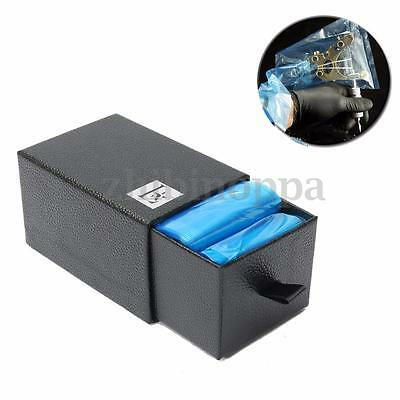 "100x Blue Tattoo Machine Safety Supply Clip Cord Sleeves Covers Bag 2""x24"" + box"