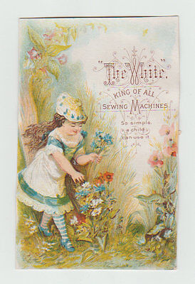 Victorian Trade Card, The White, King of all Sewing Machines