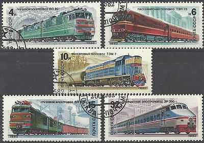 Timbres Trains URSS Russie 4907/11 o lot 3315