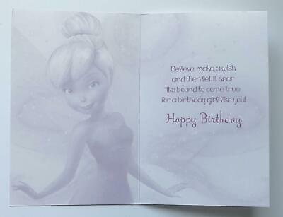 Disney Fairies Tinkerbell Time For Birthday Wishes Any Age Girl NeW Card