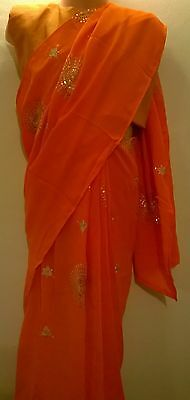 Children's Bollywood designer sarees with matching blouse for any party 3-5 year