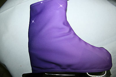 Purple To Black**fleecy Lined**skating Boot Covers  Medium Sized