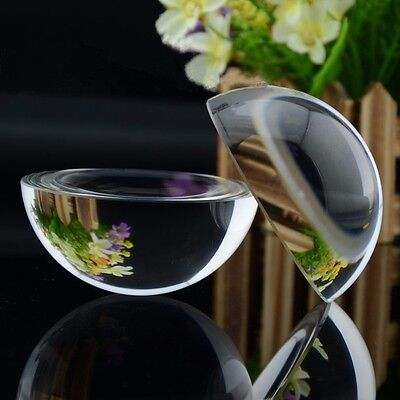 70mm Glass Crystal Paper Weight Clear Half Sphere Ball Magnifying Glass Lens