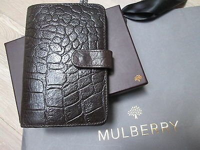 Mulberry Dark Brown Congo Reptile Leather Pocket Book Organiser Diary £225!