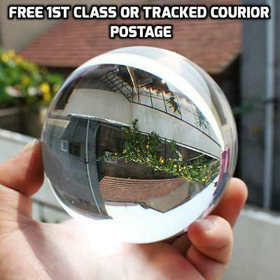 70mm Glass Crystal Paper Weight Clear Sphere Natural Quartz Ball Magnifying
