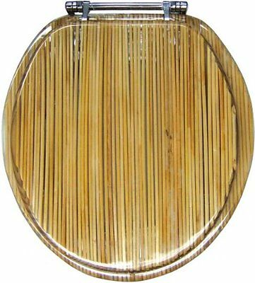 Ginsey Bamboo Shoots Hard Resin Toilet Seat Round Standard