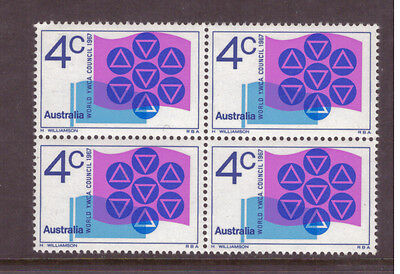 Australia 1967 Young Women`s Christian Associations SG412 block of 4 mint stamps