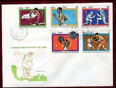 CARIBBEAN STAMPS- 11th Carabbean Games, set on FDC 1970
