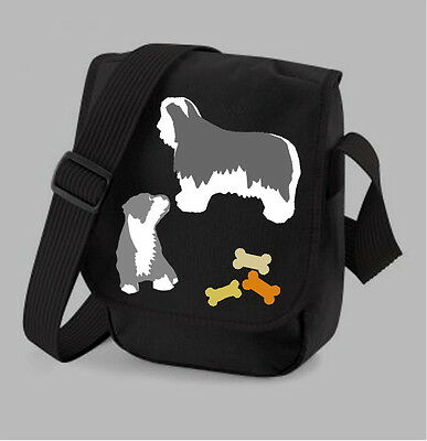 Bearded Collie Ladies Handbag Shoulder Bag 2 Designs 3 Colours Birthday Gift