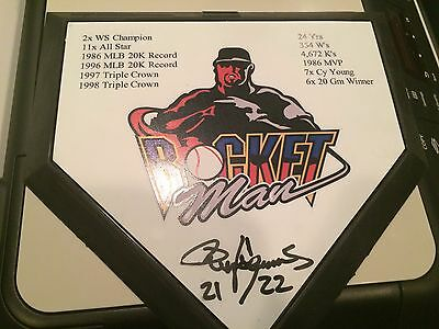 Roger Clemens Signed Home Plate