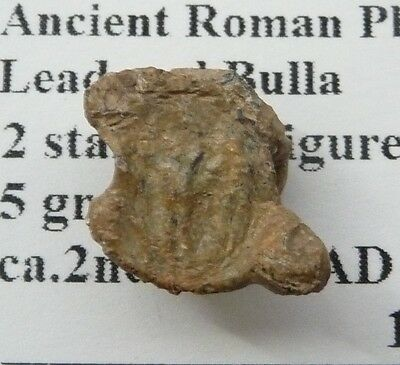 Ancient Roman Pb seal Bulla emperors standing 2nd-4thc AD