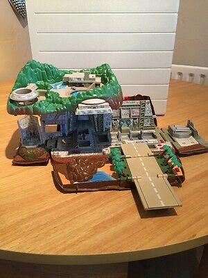 Micro Machines Thunderbirds Tracey Island Fold Out  With Sound