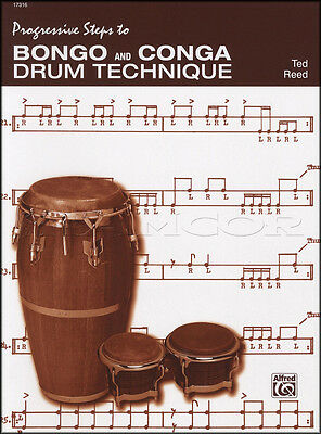 Progressive Steps to Bongo & Conga Hand Drum Technique Music Book Learn To Play