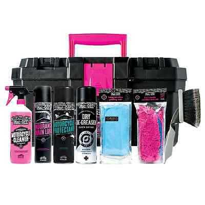 Muc-Off Motorbike Cleaning Care Maintenance 3 Stage Kit w/ Carry Case