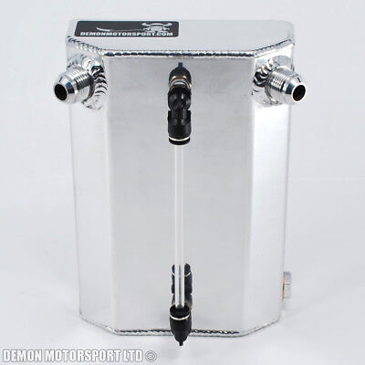 1 Litre AN10 Polished Aluminium Alloy Blow By Oil Catch Tank -10 10AN JIC
