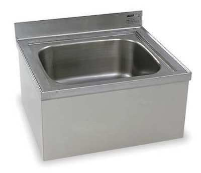 EAGLE GROUP F1916 Mop Sink, Stainless Steel, 15 1/2 In H