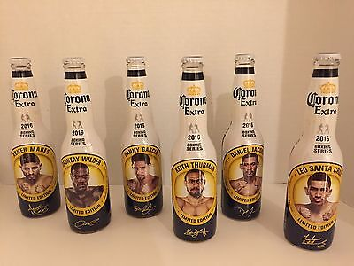 Corona Beer Bottles Boxing Limited Edition 2016 Wilder Cruz Jacobs Mares Garcia