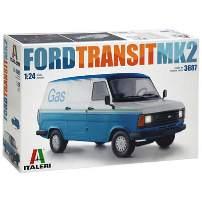 ITALERI Ford Transit Van MkII 3687 1:24 Model Kit